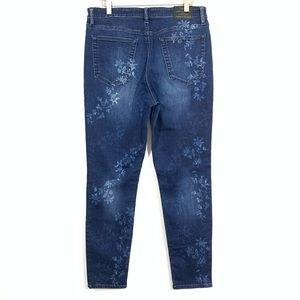 Lucky Brand Jeans - Lucky Brand Bridgette Skinny Floral Bleached Jeans
